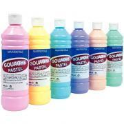 Gouache liquide pastel - Carton 6 flacon 500ml