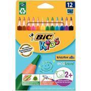 Crayons de couleur Evolution triangulaires - Etui de 12