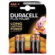 Piles 1,5V LR03 Duracell Plus Power - Blister de 4