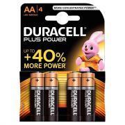 Piles Alcaline 1,5V LR06 Duracell Plus Power - Blister de 4