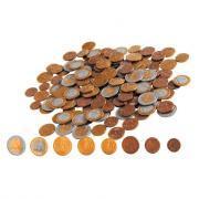 Pièces euro factices en plastique Eurecole - Sachet de 160