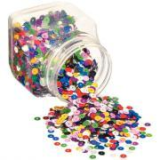 Sequins lisses - Diamètre 6mm - Pot de 185g