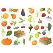 Gommettes fruits et légumes - Pochette de 408