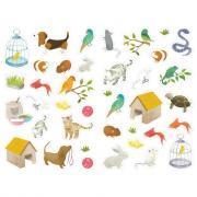 Gommettes thématiques - 6 thèmes - Pochette de 1 290