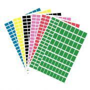 Gommettes rectangulaires - Pochette de 576