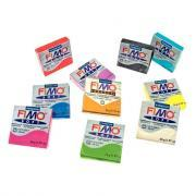 Pâte à modeler FIMO soft coloris assorti - Sachet de 10 pains