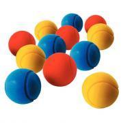 Balles de tennis en mousse - Diamètre 7 cm - Sachet de 12