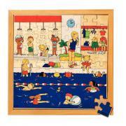 """Puzzle à cadre en bois de  64 pièces """"La piscine"""""""