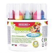 Marqueurs Megacolor à pointe large - Pot de 15