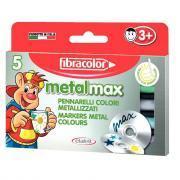 Marqueur pointe ogive metallise max assorti - Boîte de 5