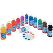 Gouache liquide Color and Co ultra lavable - Carton de 12 flacons de 500ml