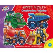 "Puzzles contour progressifs ""Engins de chantier"" - Boîte de 4"