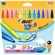 Feutres kid couleur XL pointe large - Etui de 12