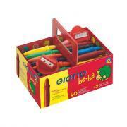 Craies à la cire bébé incassables + 2 taille-crayons - Boîte de 40