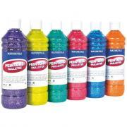 Peinture pailletee - Lot de 6 flacons de 500ml