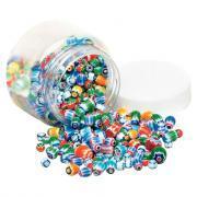 Perle chevron en verre - Bocal de 250g