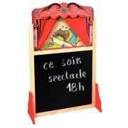 Grand théâtre de marionnettes en bois