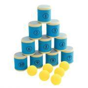 Jeu du Chamboule Tout - 10 boîtes + 6 balles en mousse