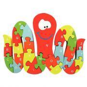 Puzzle pieuvre 3D alphabétique