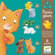 """Puzzle géant 6 en 1 """"Mistigri et ses amis"""""""