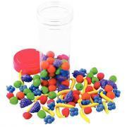 Mini-fruits à trier en plastique souple - Baril de 108