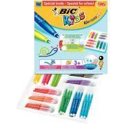 Feutres kid couleur XL coloris assortis - Classpack de 96