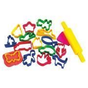 Maxi emporte pièces, formes et couleurs assorties - Lot de 12