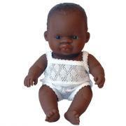 Poupée garçon africain - 21 cm