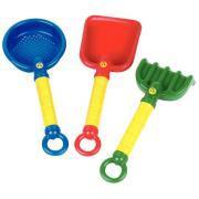 Accessoires à poignée pour bac à sable - Lot de 3