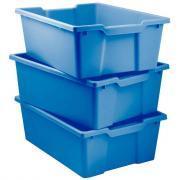 Bacs en plastique grand modèle bleu pour meuble 78669 et 78670 - Lot de 3