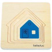 Beleduc - Puzzle à Superposition en bois - Voiture - Maison