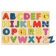Encastrement alphabet en lettres majuscules