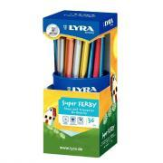 Crayons de couleur Super Ferby triangulaires - Metallic - Pot de 36
