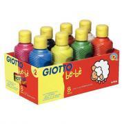 Gouache Giotto bèbè - Lot de 8 flacons de 250ml