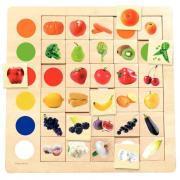 """Plateau en bois """"Les fruits et légumes"""""""