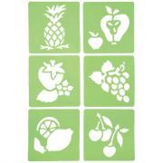 "Pochoirs ""Les fruits"" - Lot de 6"