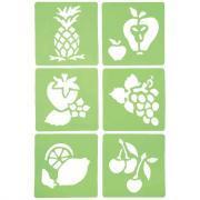 "Pochoirs ""Les fruits"" - Lot de 6"