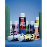 Aérosols de peinture avec solvant - Couleurs assorties - Carton de 10