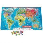 Puzzle monde magnétique - Planisphère de 92 pièces