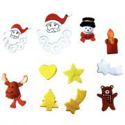 Lot de 105 mini déco noël