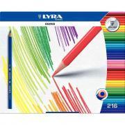 Crayons de couleur Osiris triangulaires - Schoolpack de 216