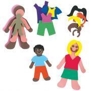Kit complet personnages + vêtements en mousse eva