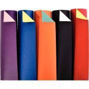 Papier cartoline bicolore 21x29.7 cm 150g. Couleurs assorties - Paquet de 100 feuilles