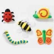 Insectes scratch géants pour tableaux muraux - Set de 5