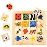 Encastrement à indices - Puzzle textures