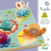 Djeco - Encastrement 3D - La tortue et ses amis