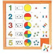 Tableau multi-activité - Chiffres de 1 à 5