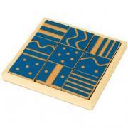 Plaques sensorielles 8x8 cm - Carton de 18