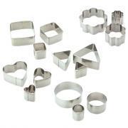 Emporte-pièces en métal pour pâte Fimo - Sachet de 15