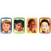 """Puzzles photo à cadre de 20 pièces """"Les enfants du Monde"""" - Lot de 4"""